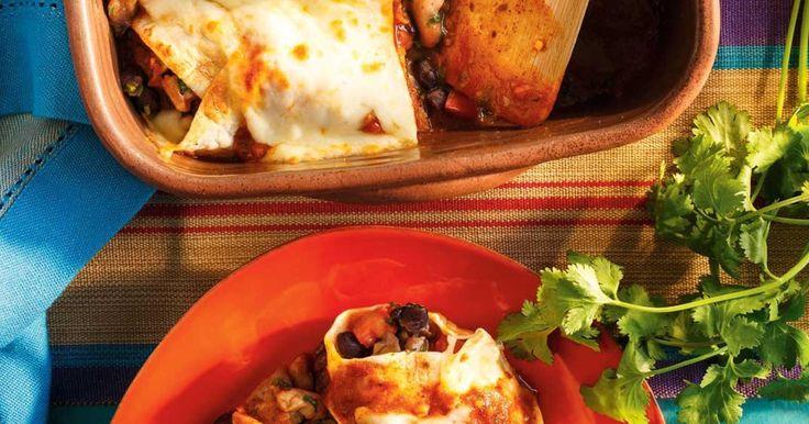 Enchiladas au poulet et aux haricots noirs Recettes   Ricardo