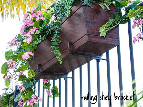 Railing Shelf Bracket 11 1 4in Shelf Pair Railing Flower Boxes Flower Boxes Hanging Window Boxes