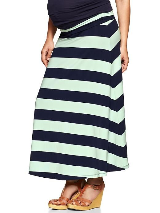 Striped Maternity Maxi Skirt from Gap - #maternity #style