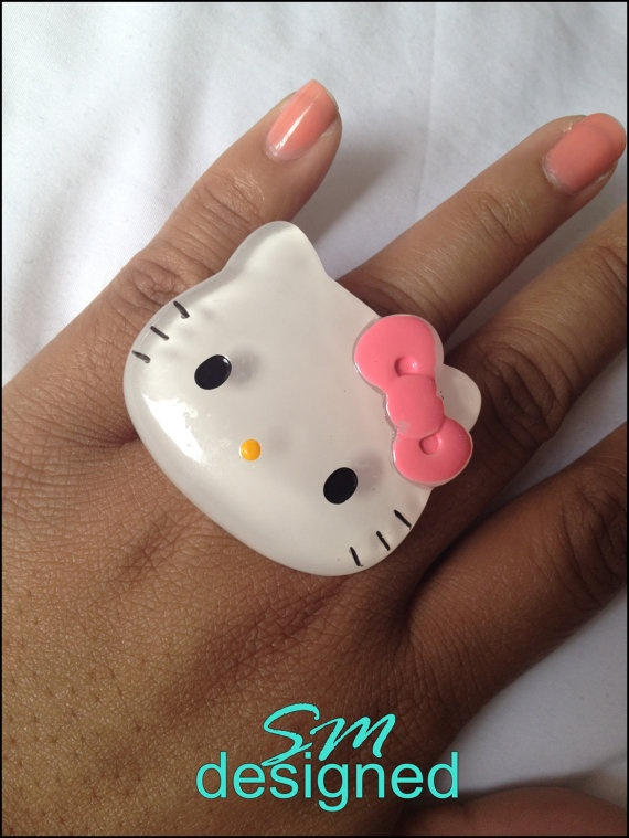 Hello Kitty ring by SMdesigned on Etsy, $14.50
