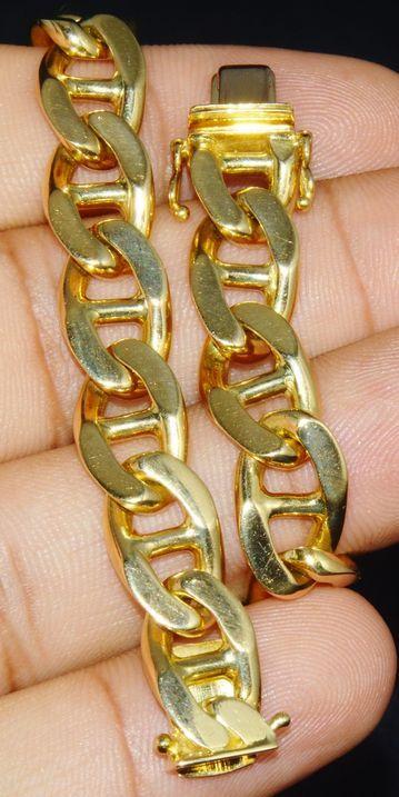 Italian Bracelet - Gold Bracelet - Vintage Italian 18K 750 Solid Gold Chain link… - https://www.luxury.guugles.com/italian-bracelet-gold-bracelet-vintage-italian-18k-750-solid-gold-chain-link/