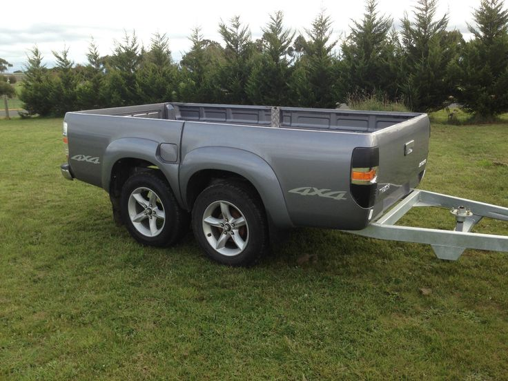 Tandem Trailer Bt50 Ford Ranger Ute Tub Tray Back Camper