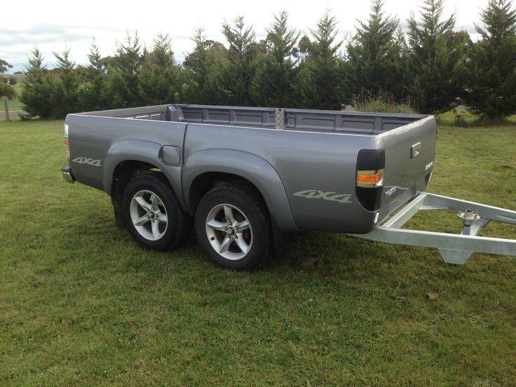 Tandem Trailer Bt50 Ford Ranger Ute Tub Tray Back Camper