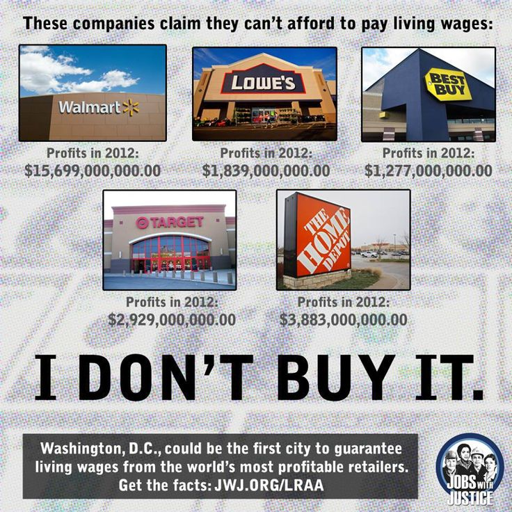 Yet somehow, other companies like ... Costco, Trader Joe's, Chipotle, Starbucks, Panera Bread, Boloco Burrito, L.L. Bean, etc. seem to do it and be MORE profitable than their competition !