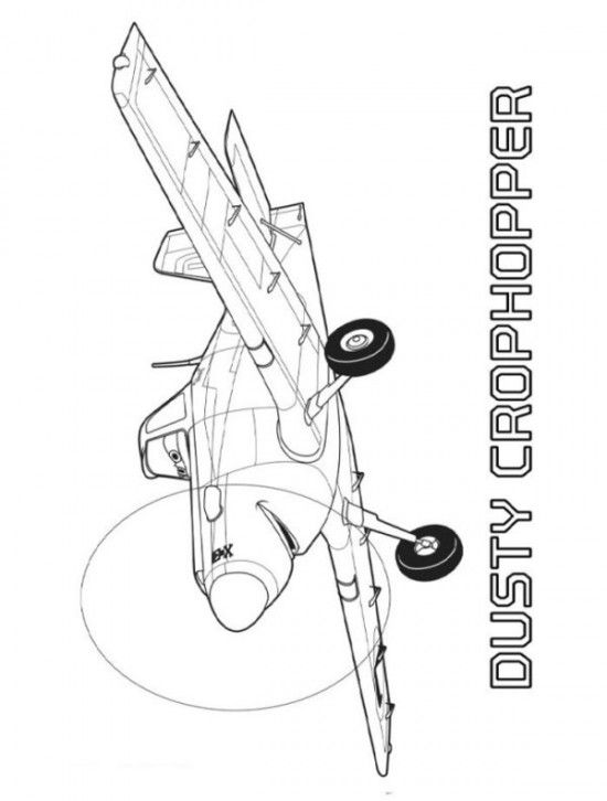 Dusty Cropchopper Coloring Sheets