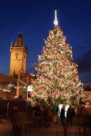 go2prague.com Old Town Square, Prague. Christmas market, holiday allure