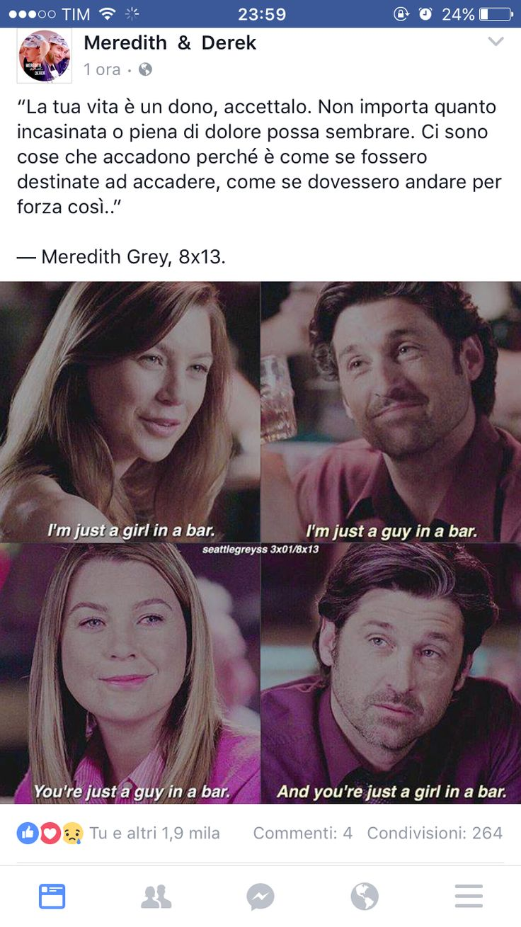 Grey's I don't know what it says above the photo, but can we worship the fact that MerDer are forever no matter what they'll be together