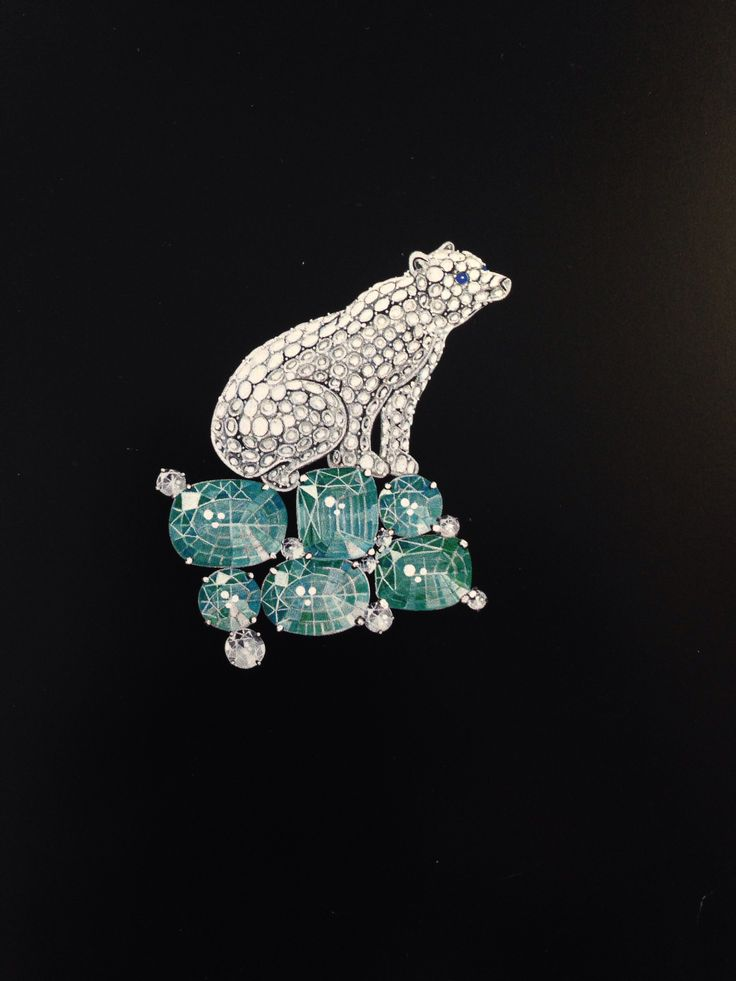 Broche ours vca