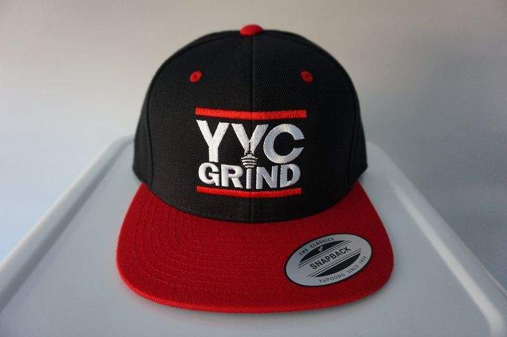 YYC GRIND Black/Red Snap Back Hat