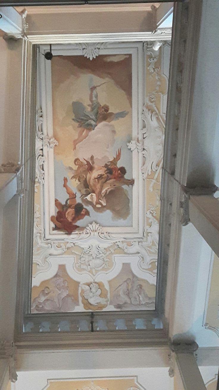 1723. Caduta degli angeli ribelli.  Palazzo Patriarcale di Udine