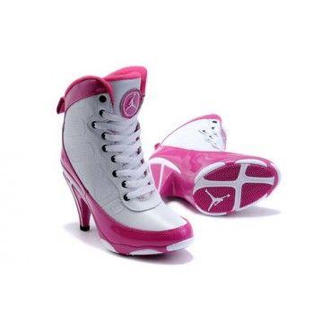 Nike Air Jordan Spizike series,2013 Cheap Nike Air Jordan 9 High Heels  White Pink