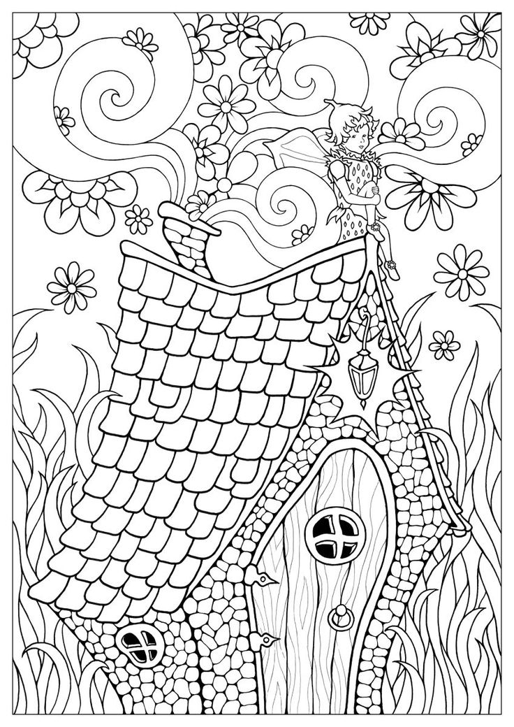 369 best architecture coloring pages for adults images on pinterest app apps and coloring books - Coloriage maison ...