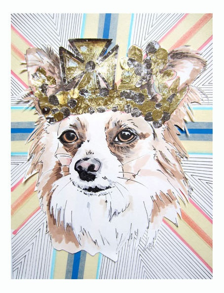 """Studio Legohead Jubilee Series Custom Pet Portraits. """"In honour of The Queen's"""