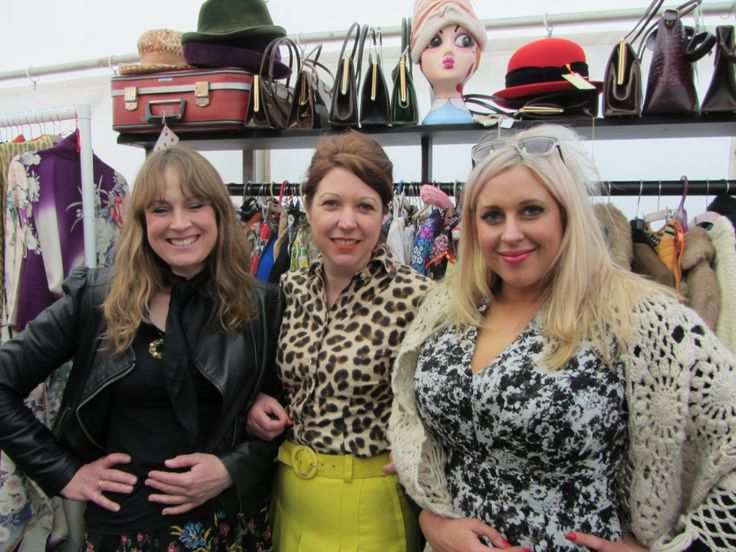 Michaela Huish (left) from Purdey Vintage joined us too.  Hay-on-Wye
