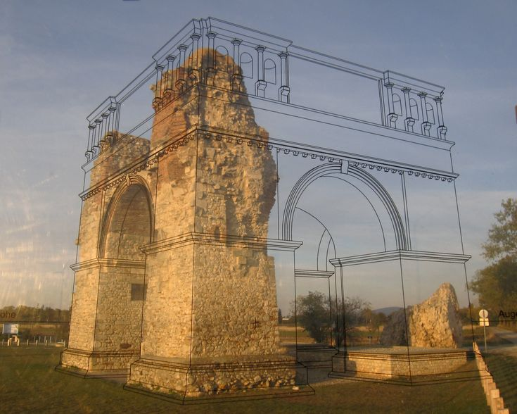 The Heidentor, Austria's best-known Roman monument and landmark of the Archaeological Park Carnuntum, is situated about 2 km from the Open Air Museum Petronell.