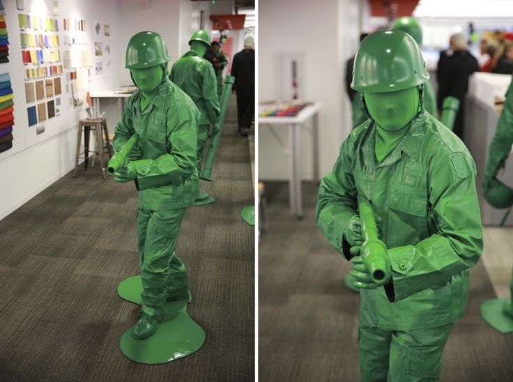 Green Army men costumes
