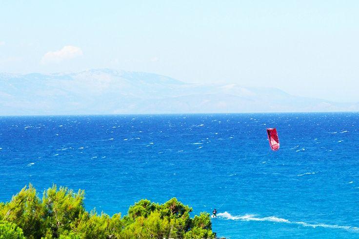 Kitesurf in Sykia