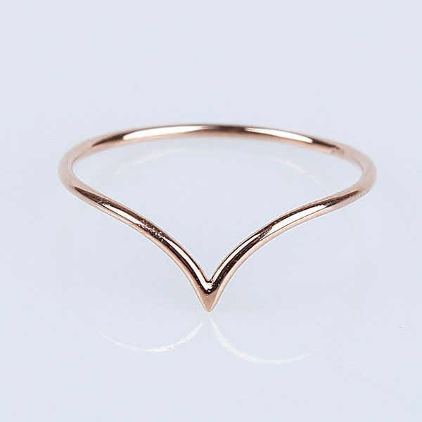 14K Solid Gold Chevron Ring, 14K Solid Gold Thin Band, 14K Gold... ($57) ❤ liked on Polyvore featuring jewelry, rings, rose gold rings, thick band rings, 14 karat gold ring, yellow gold rings and band rings