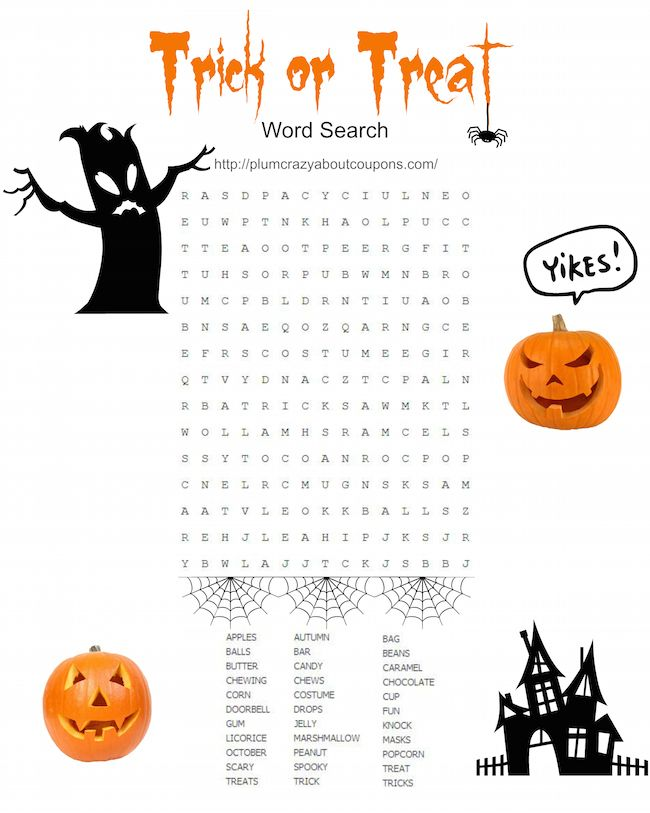 Halloween is just around the corner and today we have some Free Printable Halloween Games for you. We have a Cryptogram, a Maze and a Word Search.