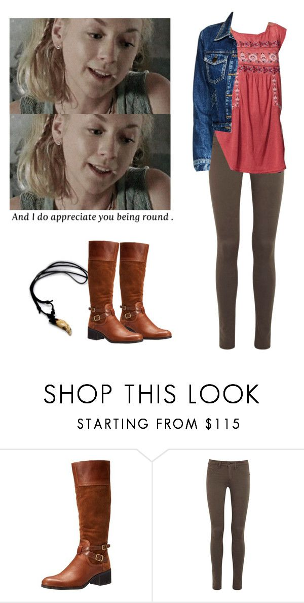 """Beth Greene outfit for chilly weather - twd / the walkig dead"" by shadyannon ❤ liked on Polyvore featuring Franco Sarto, rag & bone and Maje"