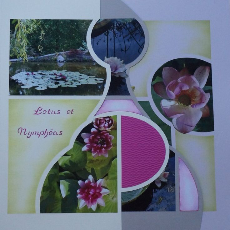 Page de scrap - Lotus et nymphéas