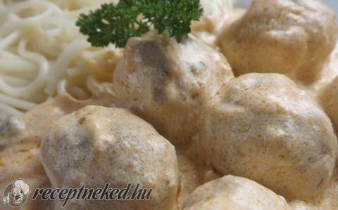 Bakonyi húsgolyók recept fotóval