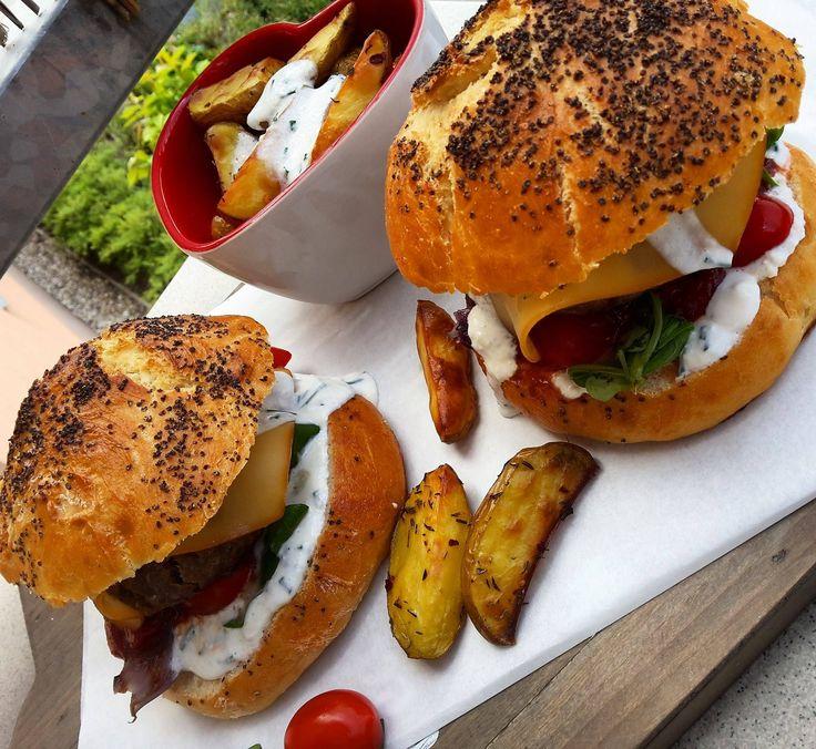 Domácí burger s hovězím masem