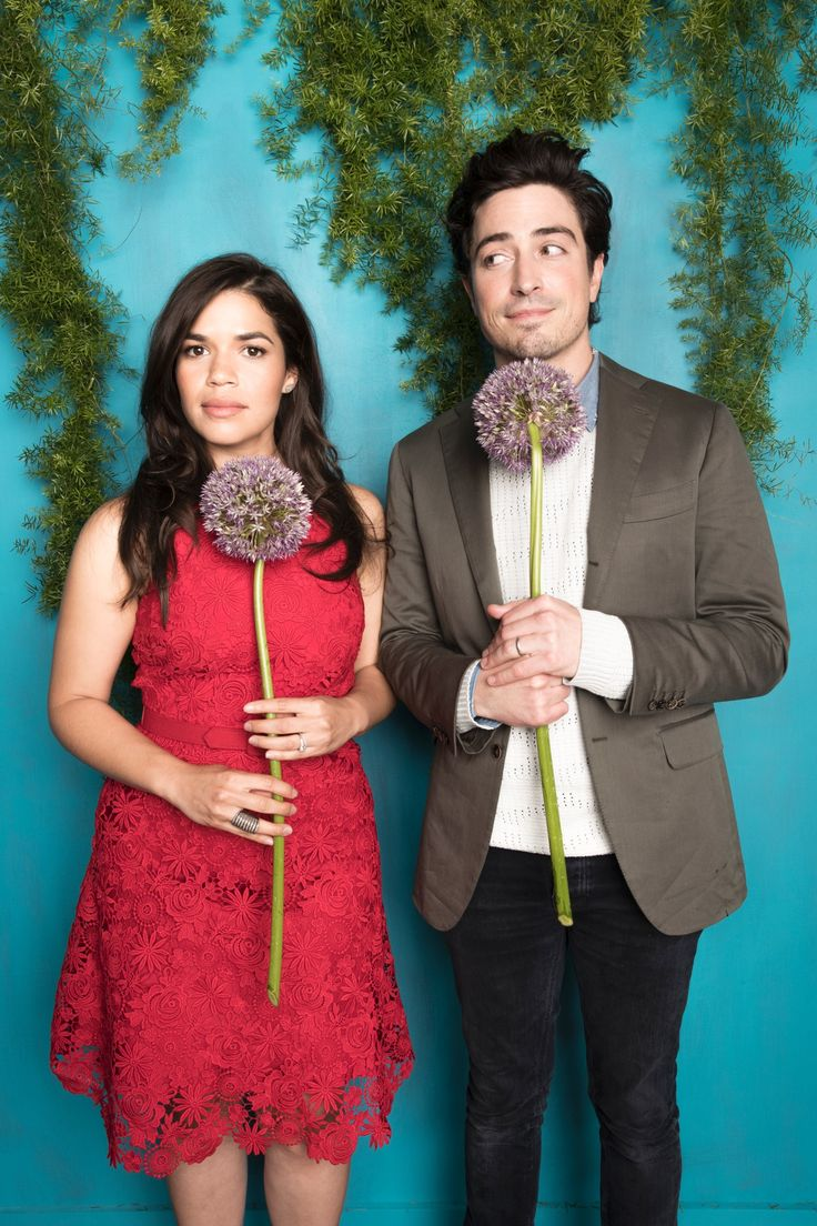 Picture perfect–'Superstore' stars America Ferrera and Ben Feldman had some poses that were on point for the Upfronts photo booth!