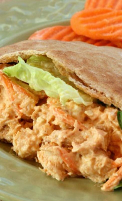 Buffalo and Blue Cheese Chicken Salad Recipe ~ brings your favorite hot wings flavor to a cold chicken salad to top some greens or stuff in a sandwich.