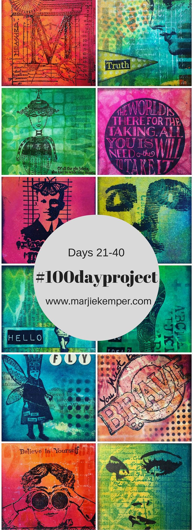 #100dayproject by Marjie Kemper using small squares for art