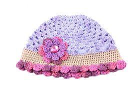 Crochet Cap Handmade - Purple/Pink by Local Artisan