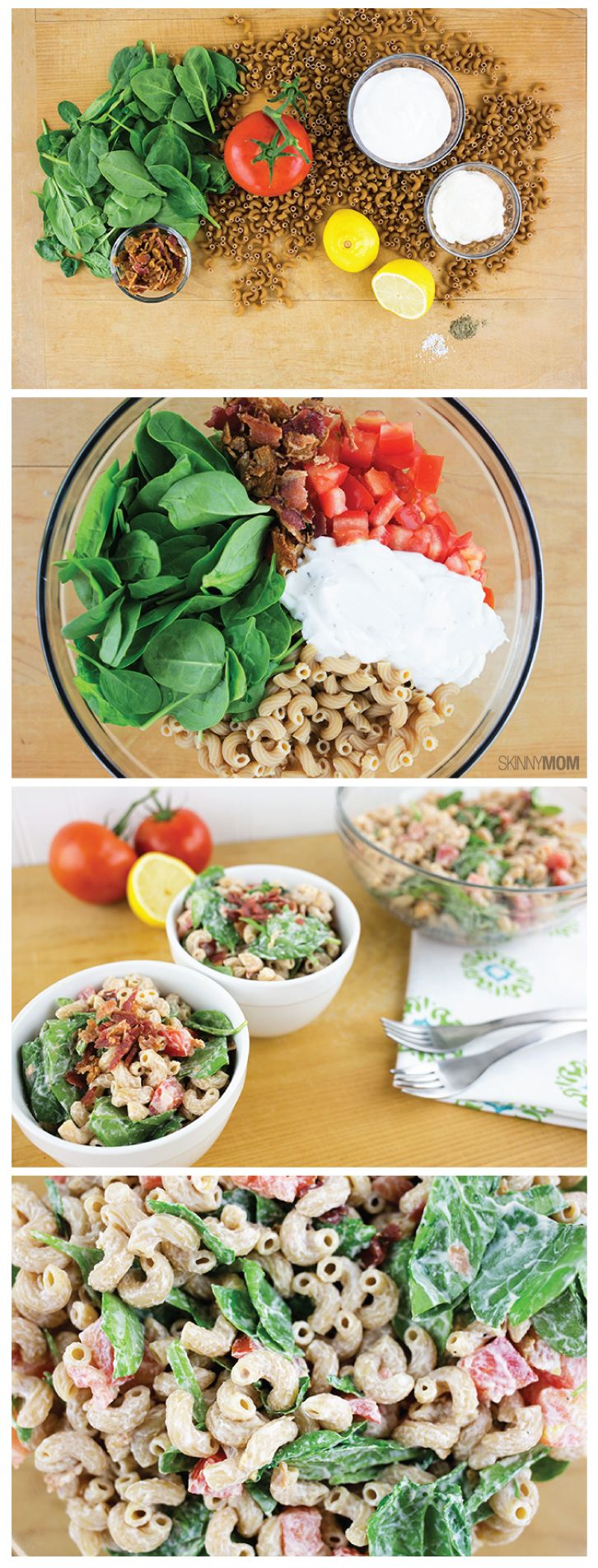 Creamy BLT Macaroni Salad: Enjoy this amazing side for 134 calories!