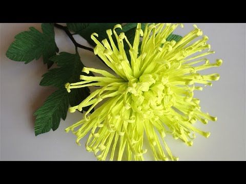 ABC TV   How To Make Spider Chrysanthemum Paper Flower From Crepe Paper ...