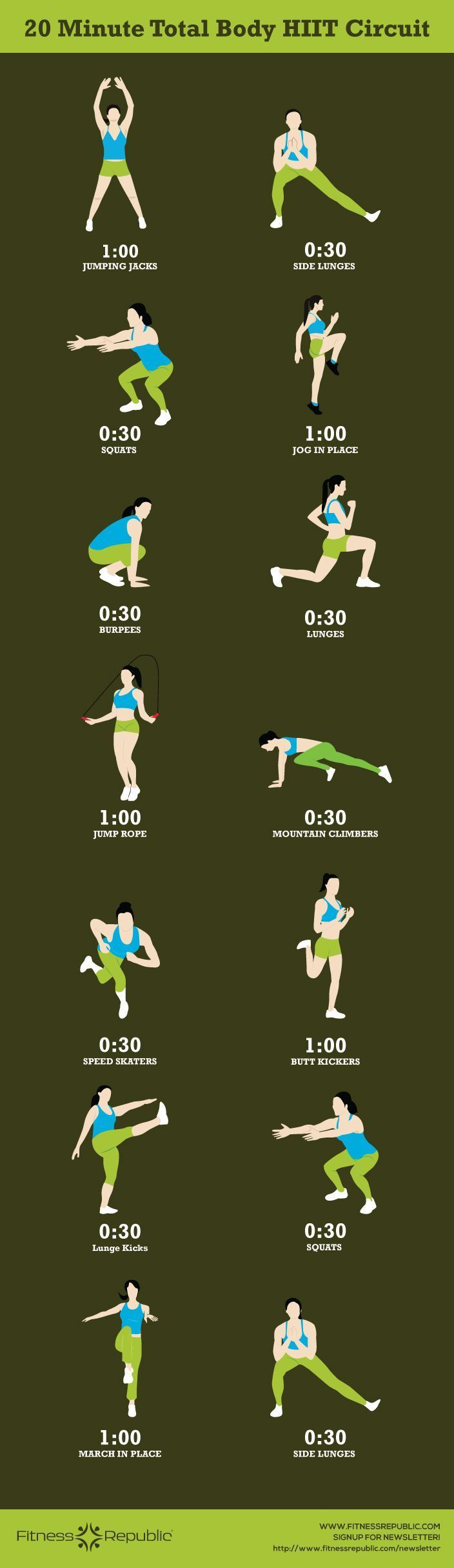 20-Minute Total Body HIIT Circuit