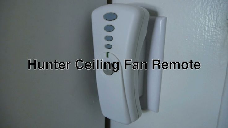 Hunter Ceiling Fan Remote Control Reset