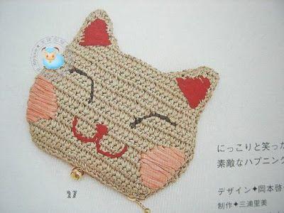 lodijoella: Cara de kitty a crochet con patrón
