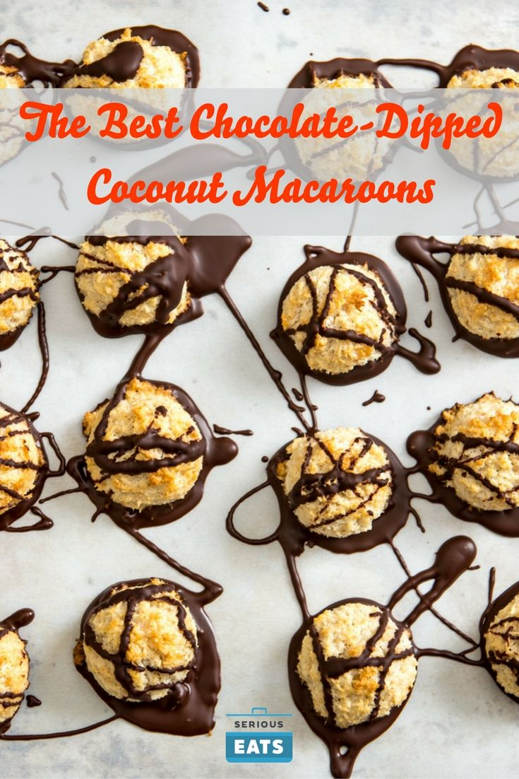 The Best Chocolate-Dipped Coconut Macaroons