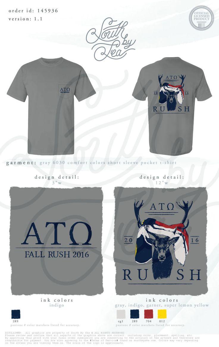 T shirt design jackson ms - Alpha Tau Omega Ato Rush Design Flag Design Brotherhood South By