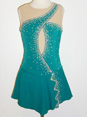 CUSTOM MADE TO FIT FIGURE SKATING /BATON TWIRLING COSTUME in Sporting Goods, Winter Sports, Ice Skating   eBay