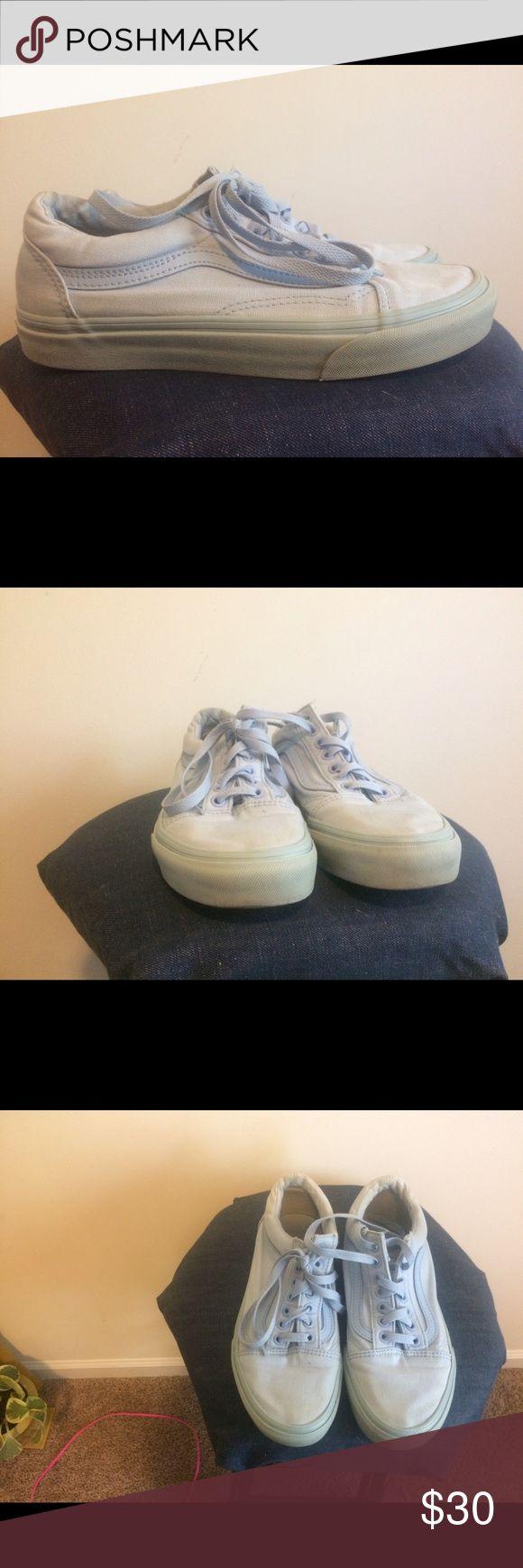 Light blue low top vans Price firm Vans Shoes Sneakers