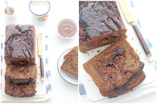 Foodagraphy. By Chelle.: Nutella Swirled Banana Loaf  FOOD: dessert breads muffi…