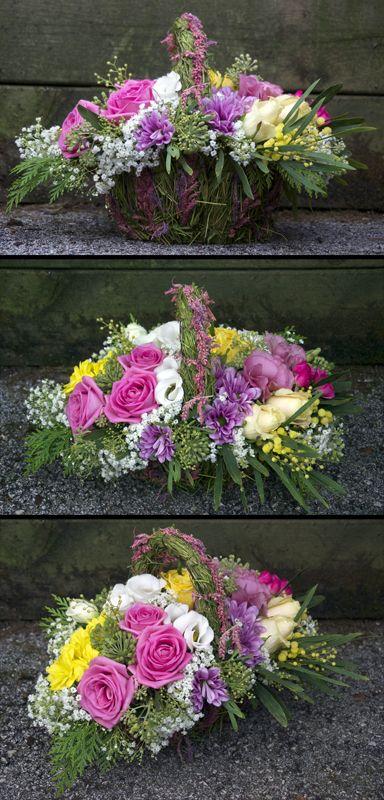 Cesta de flores for Jardineria santander