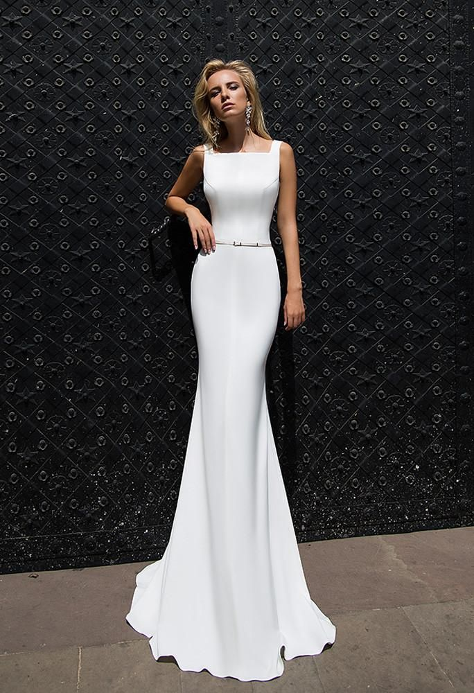 Satin wedding dress in 2019  b9acfdf2a0