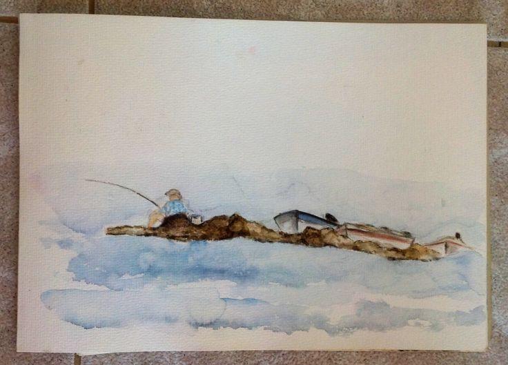 Greek fisherman in Rhodes....Charaki beach