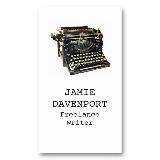 20 best business cards for writers images on pinterest business old typewriter writer journalist author business business cards reheart Choice Image