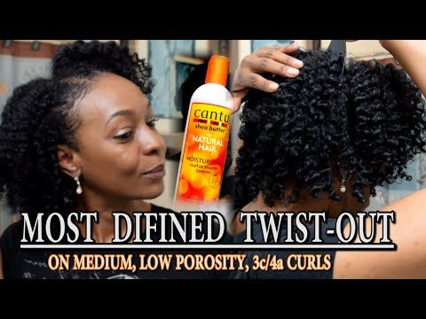 Most Defined Twist-Out | Cantu Moisturizing Curl Activating Cream, 3c/4a hair - YouTube