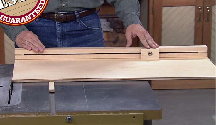 Table Saw Panel Sled Woodsmith Shop Tools Jigs