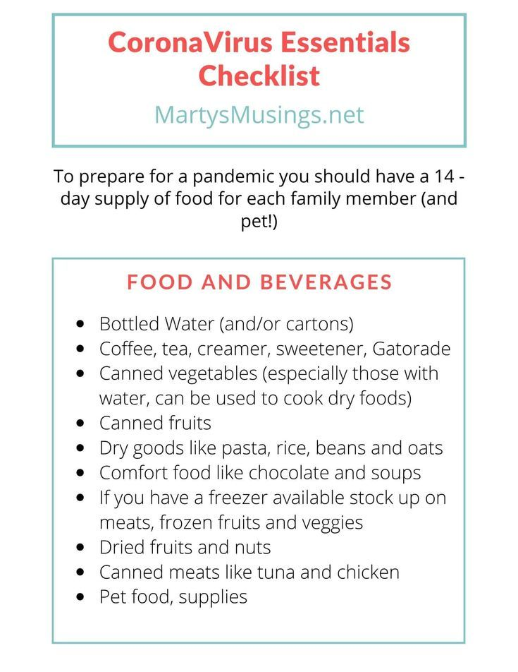 Don't let anxiety over the latest world crisis effect your own health. Here's a coronavirus essentials checklist and FRE…