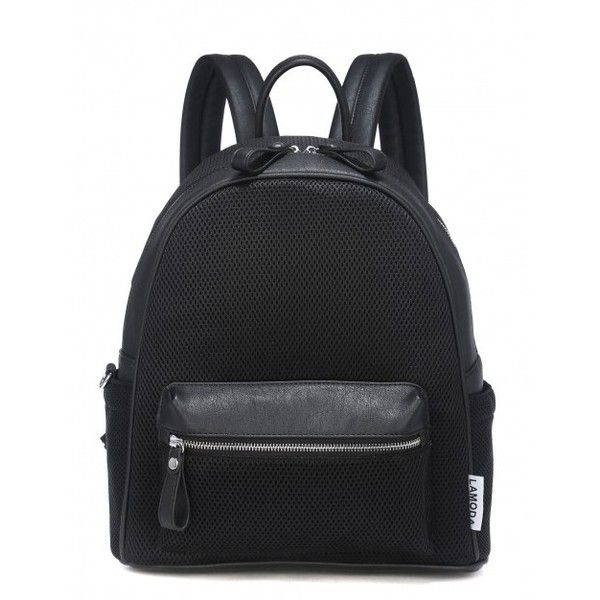 BURN IT UP BLACK MESH BACKPACK - What's New? - LAMODA ❤ liked on Polyvore featuring bags, backpacks, knapsack bags, rucksack bag, backpacks bags, mesh bag and day pack backpack