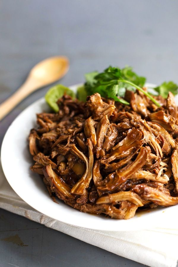 This Honey Glazed Crockpot Chicken Adobo uses simple pantry ingredients and requires hardly any hands-on time. 200 calories! Yum.